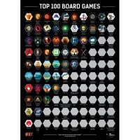 Скрач постер Top 100 Board Games (2020 BGG Edition)