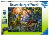 Пъзел Ravensburger от 100 XXL части - Оазис на динозаврите