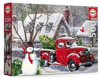 Пъзел Educa от 500 части - Коледни къщи