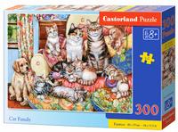 Пъзел Castorland от 300 части - Семейство котки