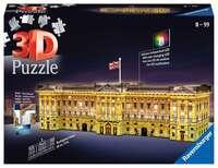 3D Пъзел Ravensburger от 216 части - Бъкингамският дворец през нощта, светещ