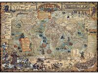 Пъзел Heye от 2000 части - Пиратска карта на света