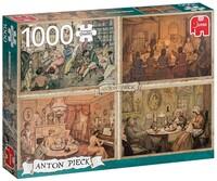 Пъзел Jumbo от 1000 части - Забавление в дневната