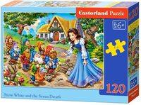 Пъзел Castorland от 120 части - Снежанка и седемте джуджета