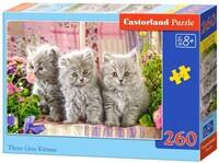 Пъзел Castorland от 260 части - Малки сиви котета