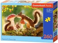Пъзел Castorland от 260 части - Животът на катеричките