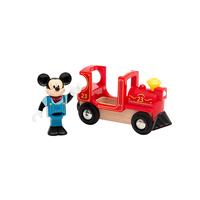 Brio локомотивче с фигурка Мики Маус