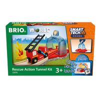 Brio играчка смарт тунел и противопожарен вагон
