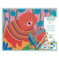 Djeco комплект за оцветяване Животни живопис