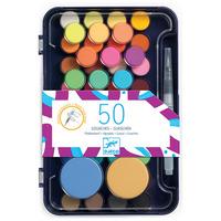 Djeco комплект боички за рисуване 50 цвята