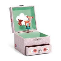 Djeco музикална кутия Wood fawn