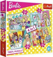 Пъзел Trefl 4 в 1 - Професиите на Барби