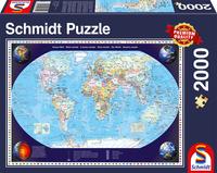 Пъзел Schmidt от 2000 части - Карта на света