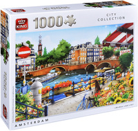 Пъзел King от 1000 части - Амстердам, Хиро Таникава