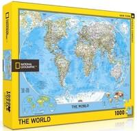 Пъзел New York Puzzle от 1000 части - Карта на света