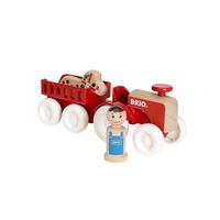 Brio играчка трактор с ремарке