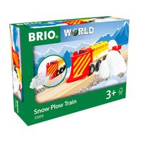 Brio комплект локомотив с вагон снегоразбивач