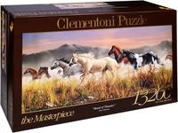 Панорамен пъзел Clementoni от 13 200 части - Бягащи коне, Джеймс Хаутман