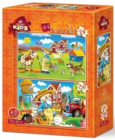 Пъзел Art Puzzle 2 в 1 - Щастливият фермер