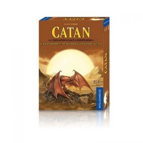 Заселниците на CATAN: Съкровища, Дракони & Откриватели