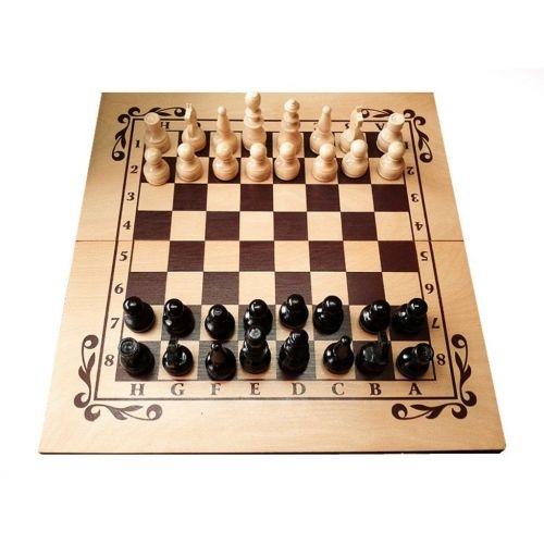 Комплект шах и табла - ръчна изработка 48/48