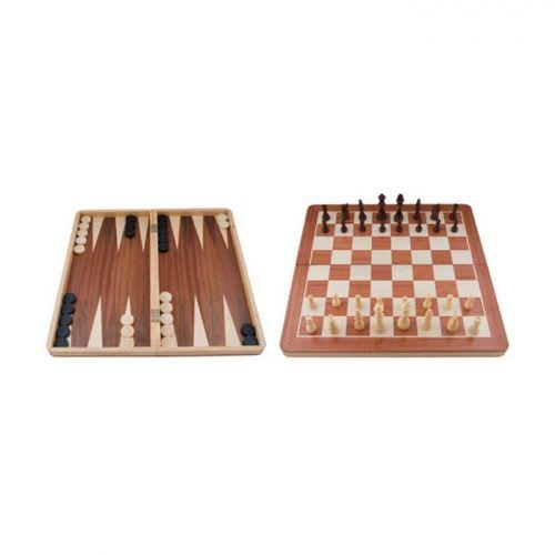 Комплект шах,табла и дама - малък