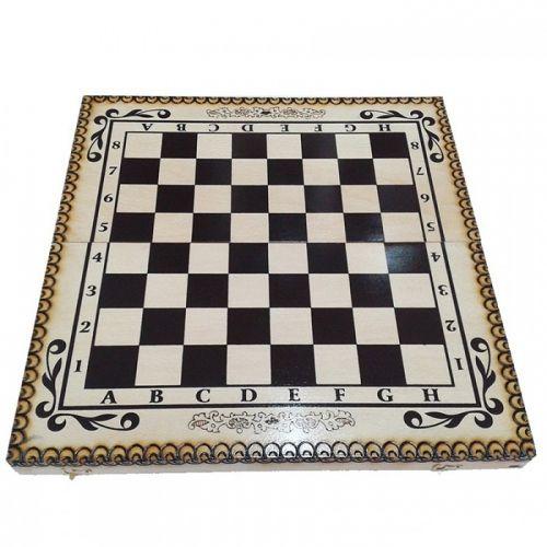 Кутия за шах и табла бук - пирограф 34/34