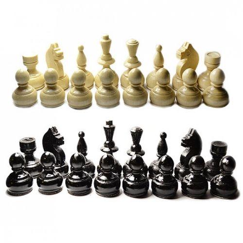 Дървени фигури за шах 60 мм - бели/ черни