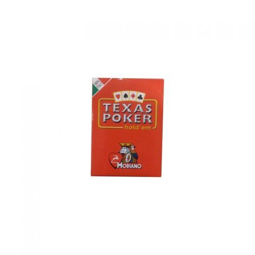 Покер карти Modiano Texas Poker, червен гръб