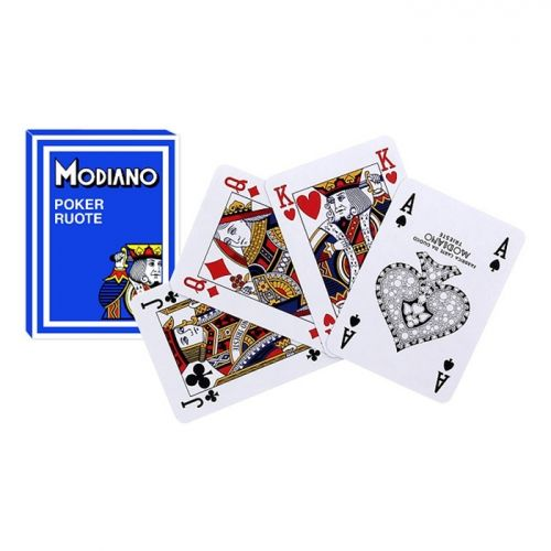 Покер карти Modiano Poker Route, син гръб