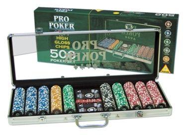 Комплекти за покер Piatnik - 500  чипа с номинал, карти за игра и зарове