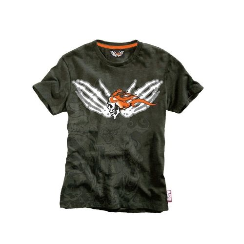 Тениска Elbenwald - Marvel Extreme Ghost Rider, мъжка, зелена