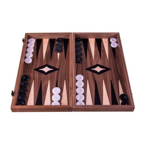 Комплект шах и табла Manopoulos - Орех, 40x38 см