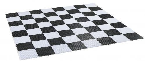 PVC плочки - игрално поле за голям градински шах