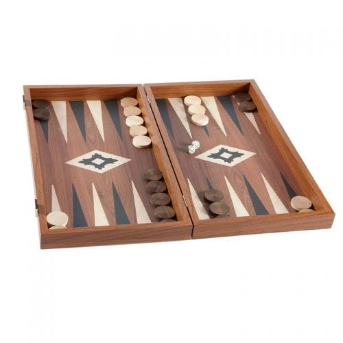 Дървена табла, цвят орех, средна, 38x38