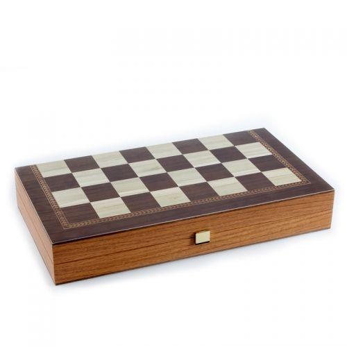 Комплект шах и табла Manopoulos - Венге 30x30 см