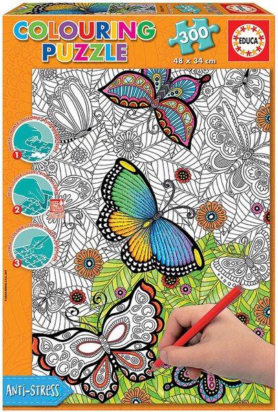 Пъзел за оцветяване Educa от 300 части - Всички красиви неща са диви и свободни