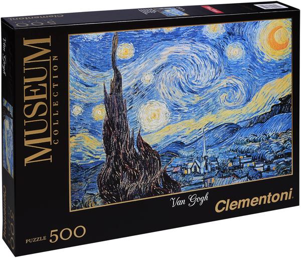 Пъзел Clementoni от 500 части - Звездна нощ, Винсент ван Гог
