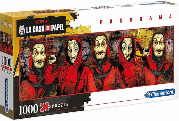 Панорамен пъзел Clementoni от 1000 части - La Casa De Papel (The Money Heist)