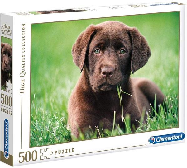 Пъзел Clementoni от 500 части - Кученце шоколадов лабрадор