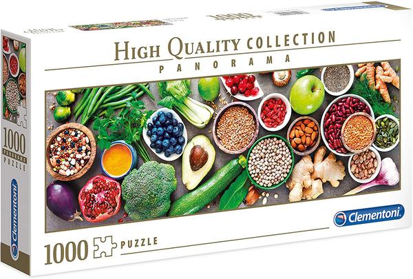 Панорамен пъзел Clementoni от 1000 части - Здравословни Зеленчуци