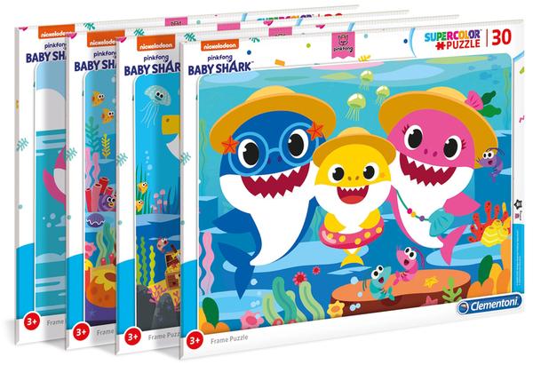 Пъзел Clementoni от 30 части - Baby Shark, асортимент