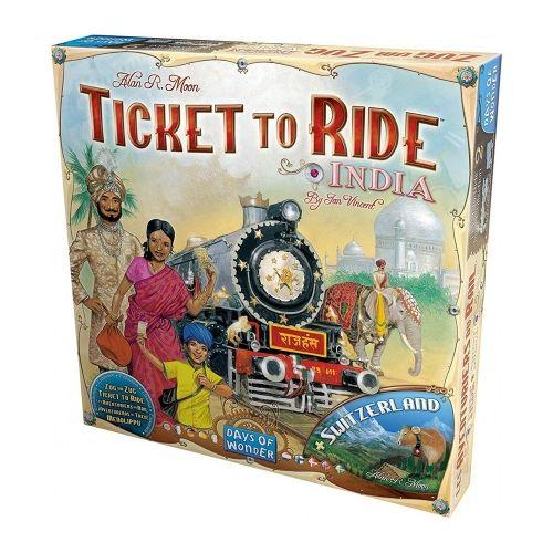 Разширение за Ticket to Ride - India & Switzerland
