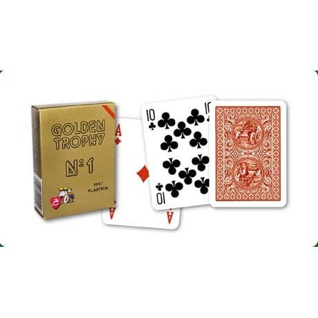 Покер Карти Modiano Golden Trophy червен