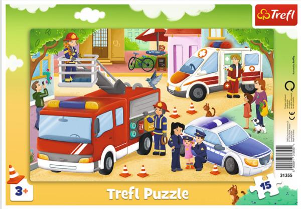 Пъзел Trefl от 15 части - Специализирани превозни средства