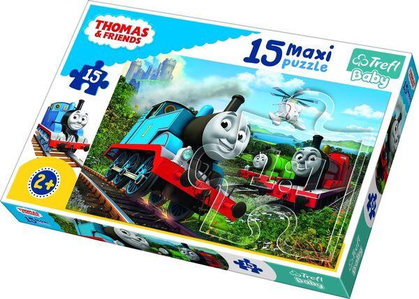 Пъзел Trefl от 15 XXL части - Бързото влакче Томас