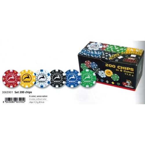 200 покер чипа Модиано х11,5 гр.