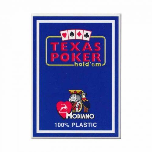 Покер карти Texas Poker 100% Plastic Син