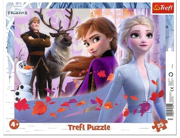 Пъзел Trefl от 25 части - Приключения в Замръзналото кралство 2