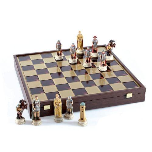 Луксозен шах Manopoulos - Римска война, 47x47 см